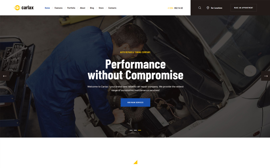 Carlax   Thème WordPress pour magasin de pièces et service automobile