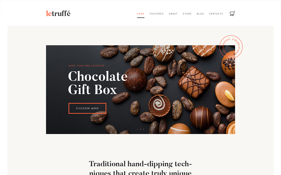 Le Truffe | Chocolate WordPress Theme