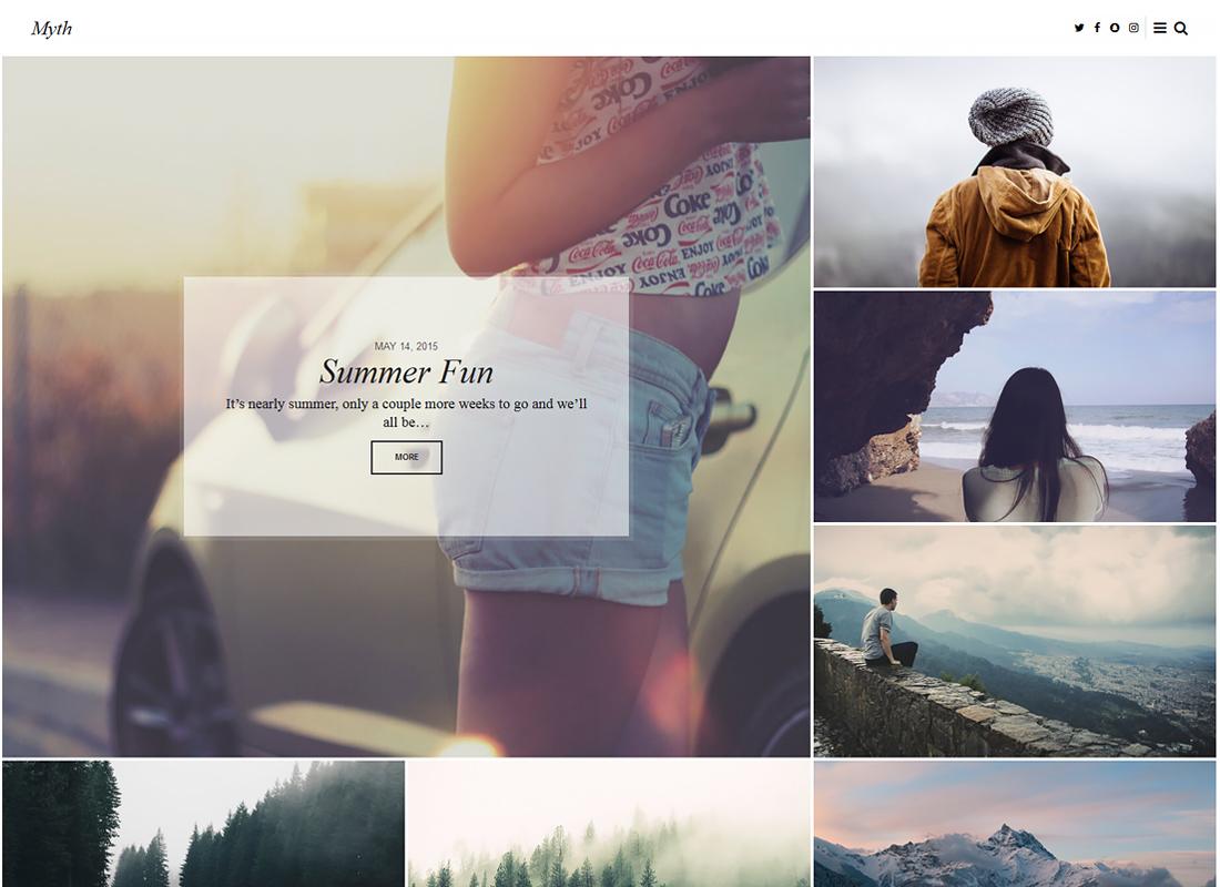 Mythe - Une histoire élégante sur le thème du blog WordPress