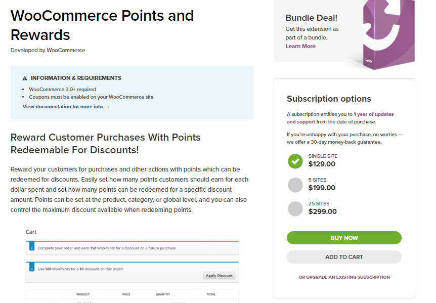 "capture d'écran de l'extension des points et récompenses WooCommerce pour l'article sur les stratégies de tarification WooCommerce ""width ="" 862 ""height ="" 599 ""srcset ="" https://cdn.learnwoo.com/wp-content/uploads/2018/05/WooCommerce-Points -and-Rewards.png 862w, https://cdn.learnwoo.com/wp-content/uploads/2018/05/WooCommerce-Points-and-Rewards-300x208.png 300w, https://cdn.learnwoo.com /wp-content/uploads/2018/05/WooCommerce-Points-and-Rewards-768x534.png 768w, https://cdn.learnwoo.com/wp-content/uploads/2018/05/WooCommerce- Points-and- Rewards-100x70.png 100w, https://cdn.learnwoo.com/wp-content/uploads/2018/05/WooCommerce-Points-and-Rewards-218x150.png 218w, https://cdn.learnwoo.com/ wp-content / uploads / 2018/05 / WooCommerce-Points-and-Rewards-696x484.png 696w, https://cdn.learnwoo.com/wp-content/uploads/2018/05/WooCommerce-Points-and-Rewards -604x420.png 604w ""tailles ="" (largeur maximale: 862 pixels) 100vw, 862 pixels"