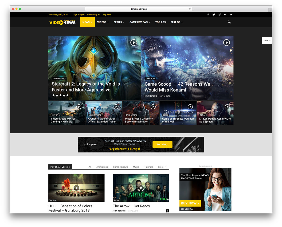 journal-video-magazine-wordpress-website-template &quot;width =&quot; 1200 &quot;height =&quot; 968 &quot;data-lazy-srcset =&quot; https://cdn.colorlib.com/wp/wp-content/uploads/sites/2 /newspaper-video-magazine-wordpress-website-template.jpg 1200w, https://cdn.colorlib.com/wp/wp-content/uploads/sites/2/newspaper-video-magazine-wordpress-website-template- 300x242.jpg 300w, https://cdn.colorlib.com/wp/wp-content/uploads/sites/2/newspaper-video-magazine-word-word-website-768x620.jpg 768w, https: // cdn. colorlib.com/wp/wp-content/uploads/sites/2/newspaper-video-magazine-wordpress-website-template-1024x826.jpg 1024w &quot;data-lazy-tailles =&quot; (largeur maximale: 1200px) 100vw, 1200px &quot;data-lazy-src =&quot; https://webypress.fr/wp-content/uploads/2018/12/1544128460_596_Meilleurs-thèmes-vidéo-WordPress-pour-les-vidéos-intégrées-et-auto-hébergées-2018.jpg?is-pending-load= 1 &quot;srcset =&quot; données: image / gif; base64, R0lGODlhAQABAIAAAAAAAP /// yH5BAEAAAAALAAAAAABAAAAAAIBRAA7 &quot;/&gt;</p> <p><noscript><img class=