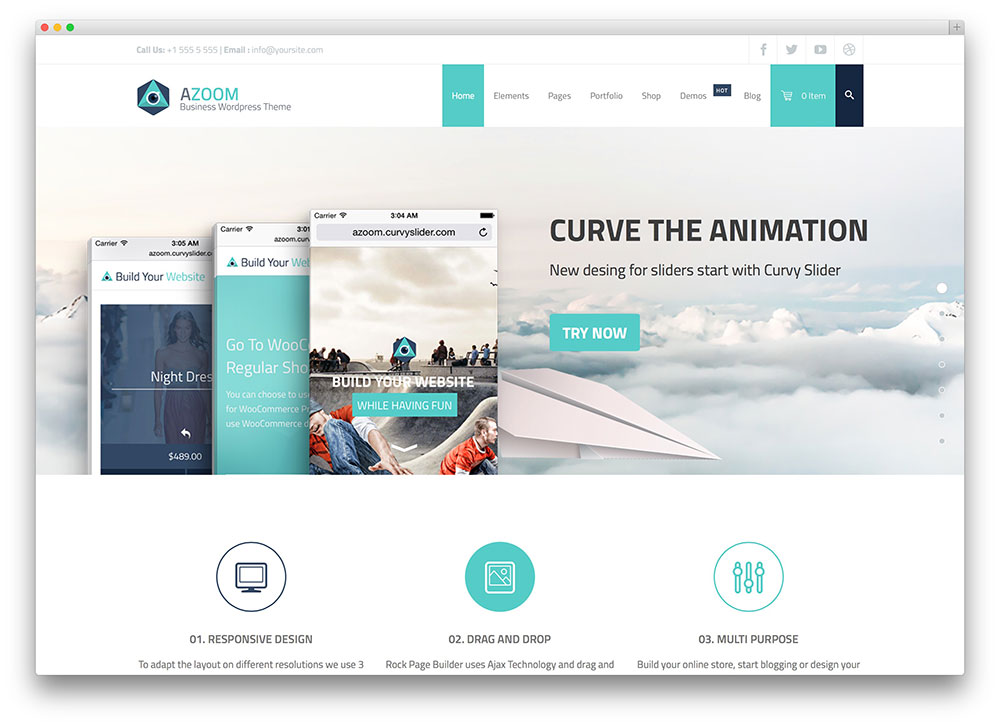 azoom multipurpose corporate theme