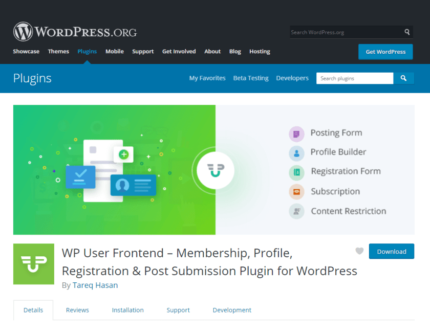WPUF- bloguer en utilisant WordPress