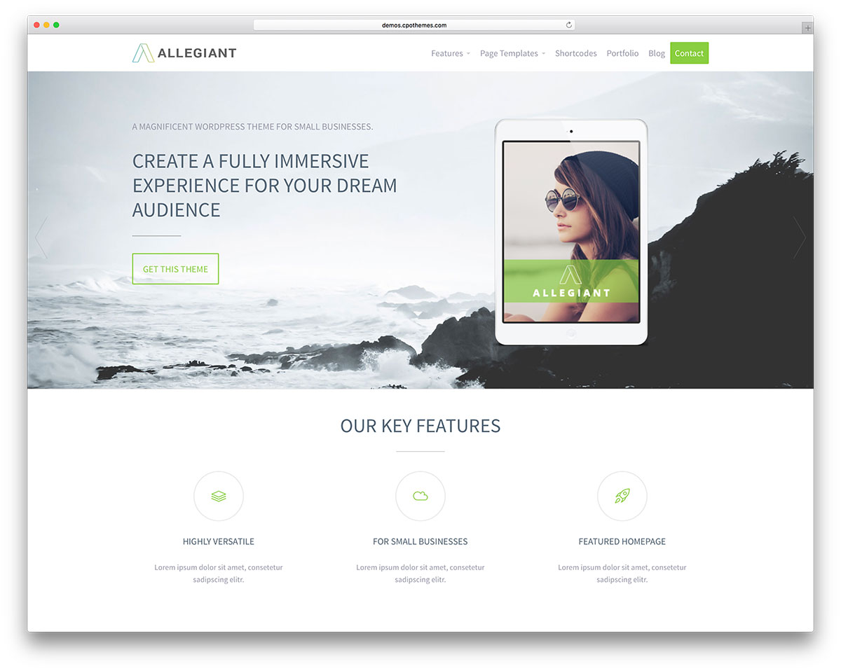 allegiant-best-free-wordpress-theme &quot;width =&quot; 1200 &quot;height =&quot; 958 &quot;data-lazy-srcset =&quot; https://cdn.colorlib.com/wp/wp-content/uploads/sites/2/allegiant -best-free-wordpress-theme.jpg 1200w, https://cdn.colorlib.com/wp/wp-content/uploads/sites/2/allegiant-best-free-wordpress-theme-300x240.jpg 300w, https : //cdn.colorlib.com/wp/wp-content/uploads/sites/2/allegiant-best-free-wordpress-theme-768x613.jpg 768w, https://cdn.colorlib.com/wp/wp- content / uploads / sites / 2 / allegiant-best-free-wordpress-theme-1024x817.jpg 1024w &quot;data-lazy-tailles =&quot; (largeur maximale: 1200px) 100vw, 1200px &quot;data-lazy-src =&quot; https: //cdn.colorlib.com/wp/wp-content/uploads/sites/2/allegiant-best-free-wordpress-theme.jpg?is-pending-load=1 &quot;srcset =&quot; data: image / gif; base64 , R0lGODlhAQABAIAAAAAAAAP /// yH5BAEAAAAALAAAAAABAAEAAAIBRAA7 &quot;/&gt;</p> <p><noscript><img class=