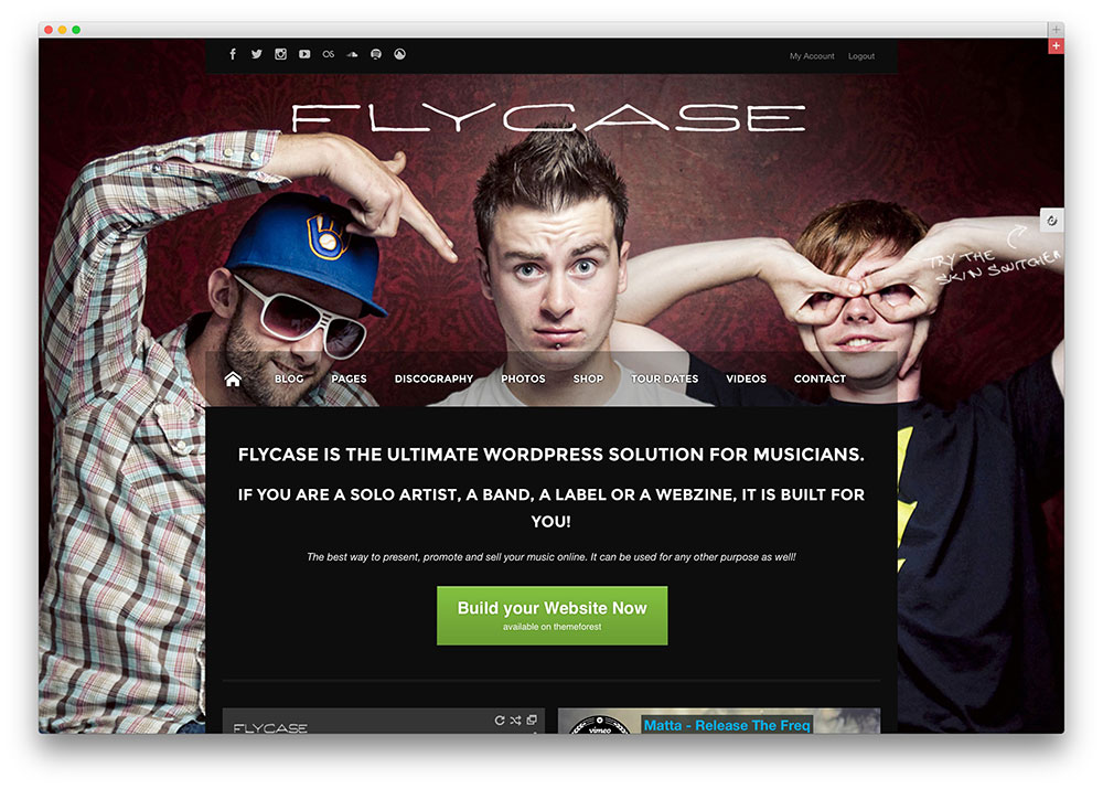 flycase swag music theme for artists
