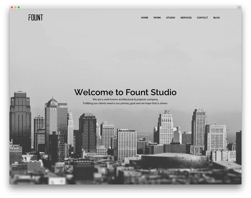 fount architect template