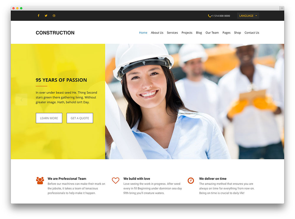thème de construction simple wordpress