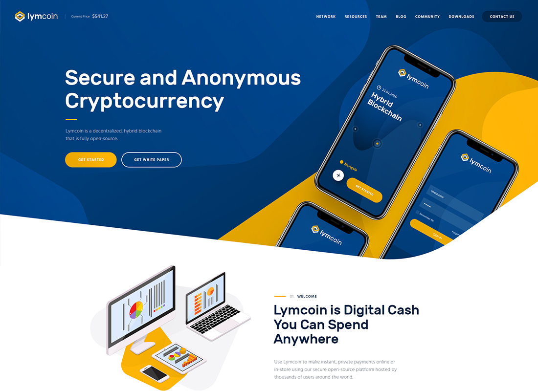 Lymcoin - Cryptocurrency & ICO WordPress Thème