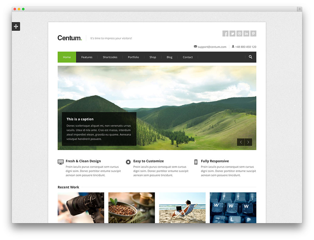 centum - travel blog and website theme