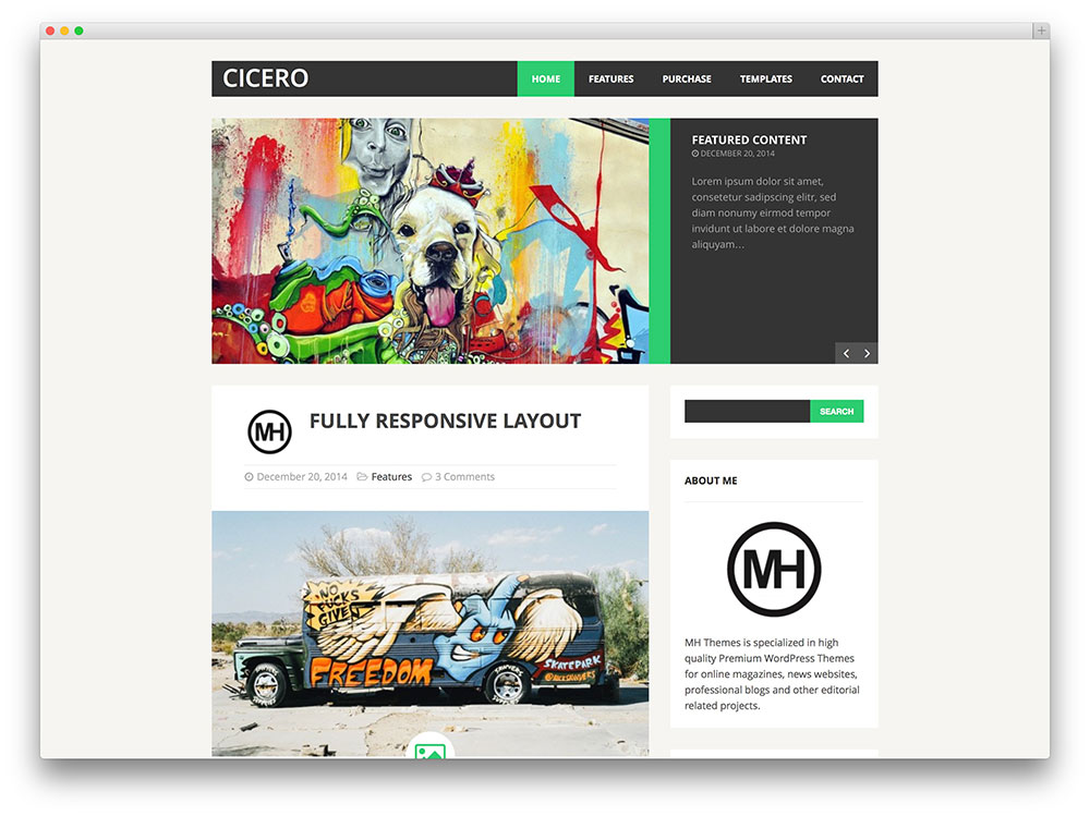 mh cicero flat blog theme