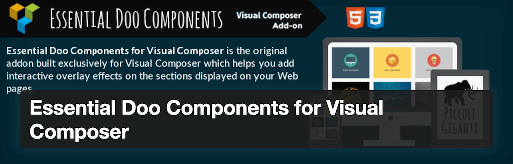 Essential Doo Components pour WPBakery Page Builder - Plugins WordPress