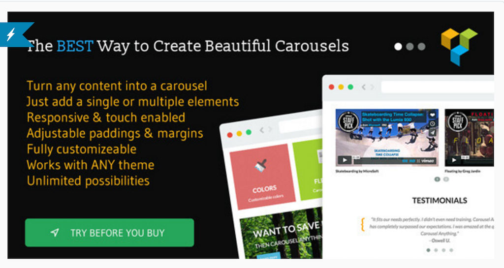 Carrousel Anything pour WPBakery Page Builder WordPress