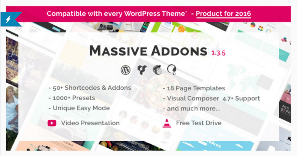 Massive Addons pour WPBakery Page Builder WordPress