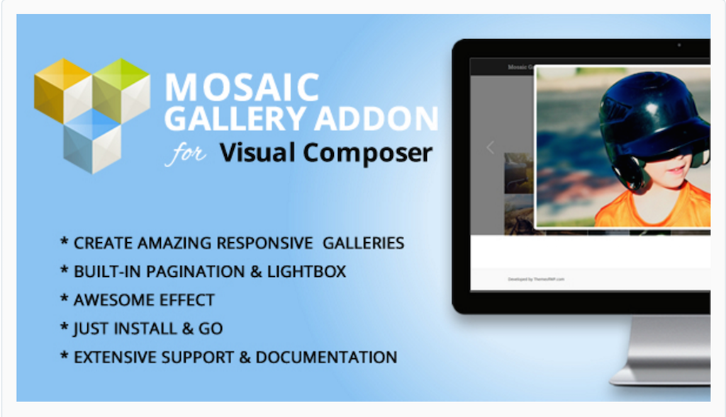 Module Mosaic Gallery pour WPBakery Page Builder WordPress