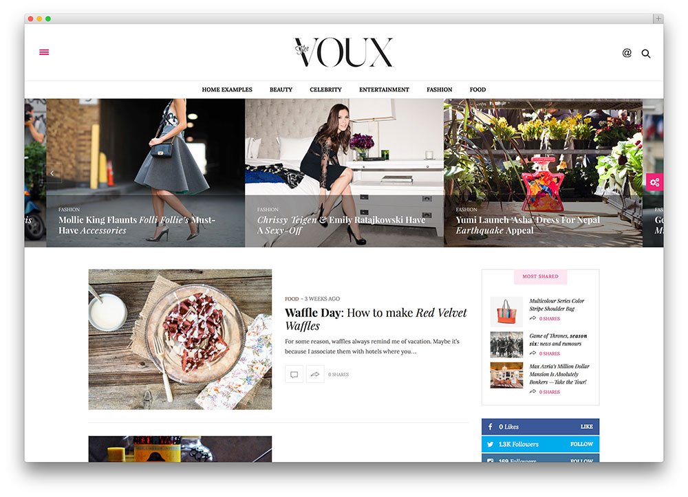 the voux - thème de blogs de mode