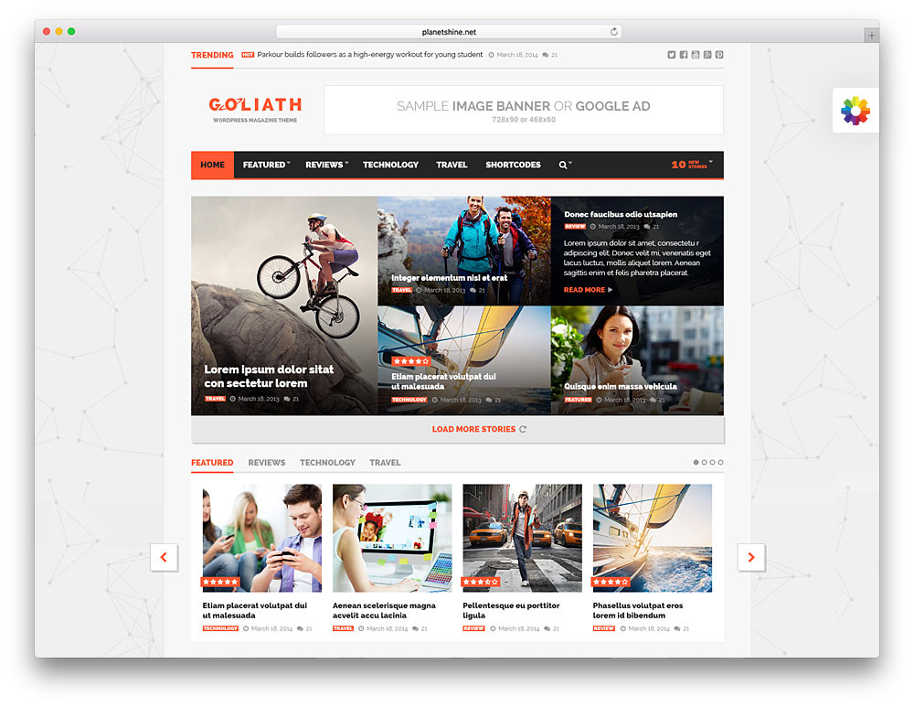 goliath - classic magazine WordPress theme