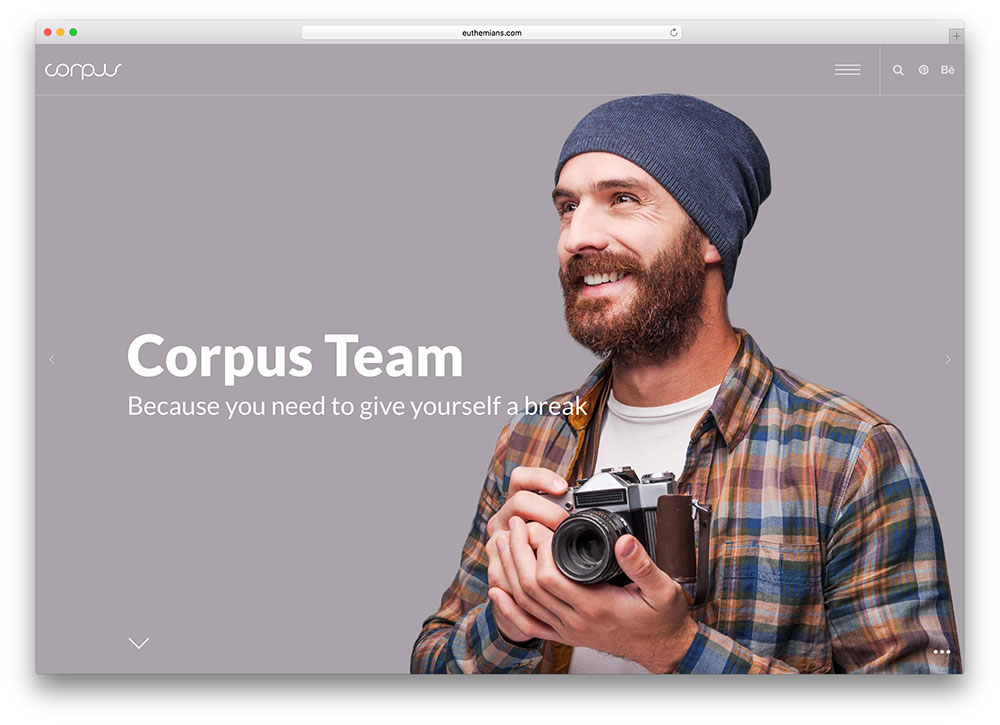 corpuse - creative portfolio wordpress theme