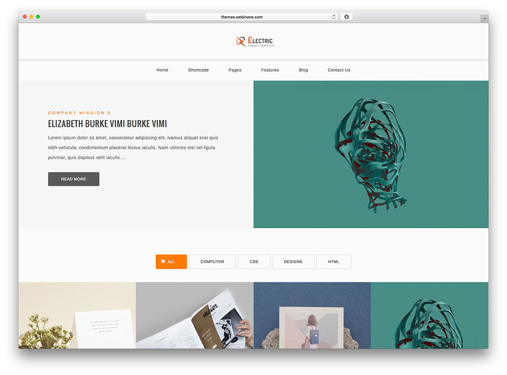 electric- multipurpose portfolio for designers