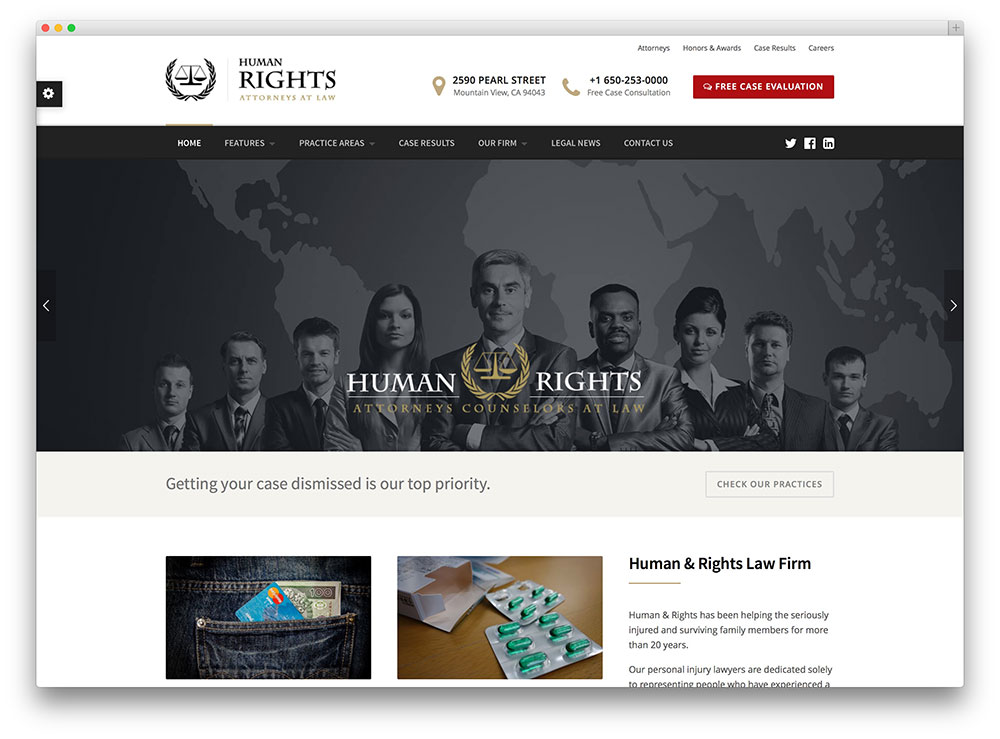 humanrights - law an attorney theme