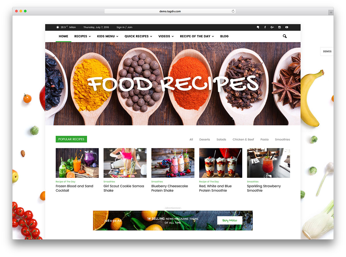 "newsmag-food-magazine-wordpress-website-template ""width ="" 1200 ""height ="" 891 ""srcset ="" https://colorlib.com/wp/wp-content/uploads/sites/2/newsmag-food-magazine -wordpress-website-template.jpg 1200w, https://colorlib.com/wp/wp-content/uploads/sites/2/newsmag-food-magazine-wordpress-website-template-300x223.jpg 300w, https: / /colorlib.com/wp/wp-content/uploads/sites/2/newsmag-food-magazine-wordpress-website-768x570.jpg 768w, https://colorlib.com/wp/wp-content/uploads/ sites / 2 / newsmag-food-magazine-wordpress-website-template-1024x760.jpg 1024w ""data-lazy-values ​​="" (largeur max: 1200px) 100vw, 1200px ""/></p> <p><noscript><img class="