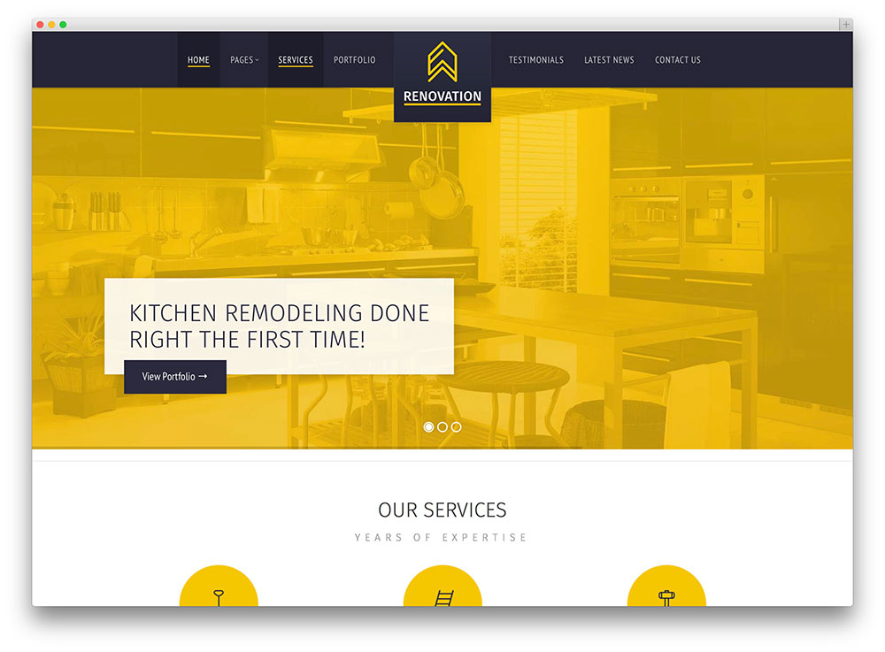 renovation clean construction company theme