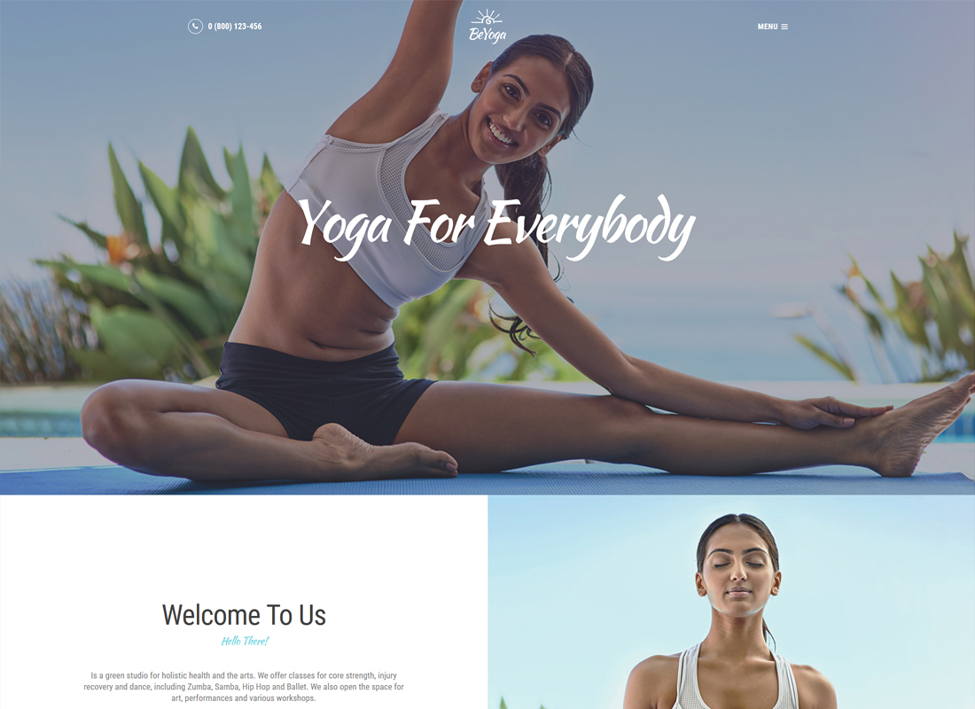 BeYoga | Yogastudio & Gym Thème WordPress