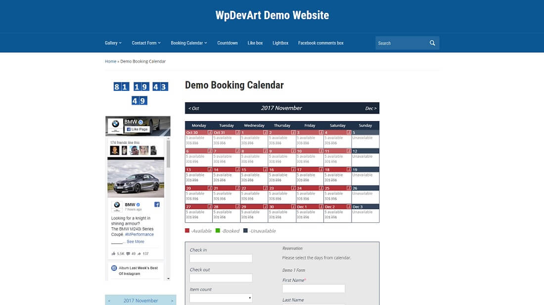 calendrier de réservation plugin wordpress