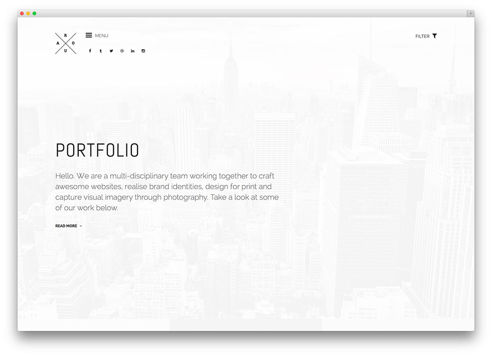 roua WordPress portfolio theme