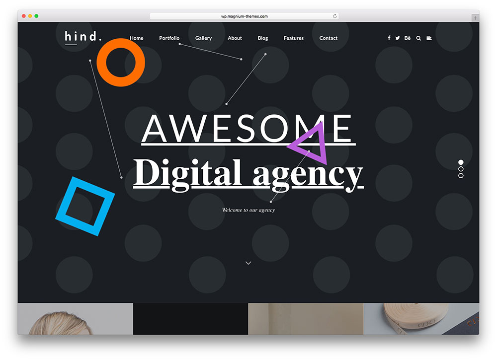 hind simple creative agency theme