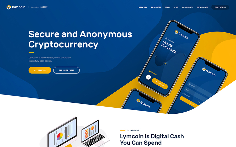 Lymcoin | Cryptocurrency & ICO WordPress Thème