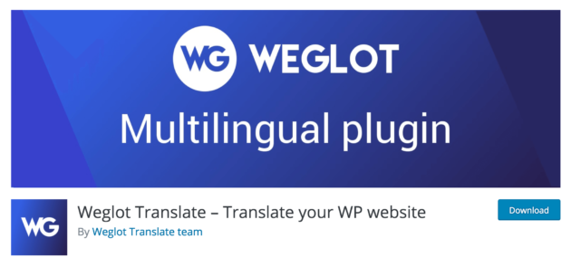 Le plugin Weglot Translate.