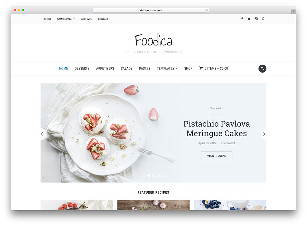 foodica - awesome food blog theme