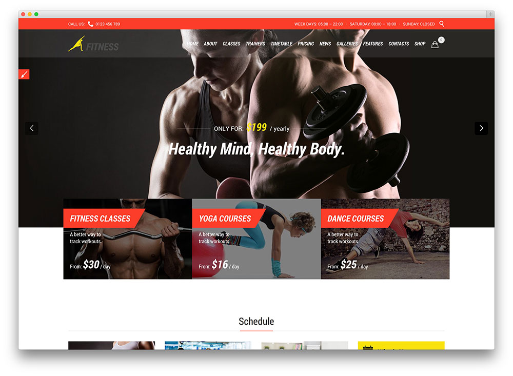thème de fitness crossfit wordpress