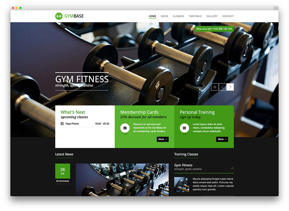 gymbase crossfit wordpress template