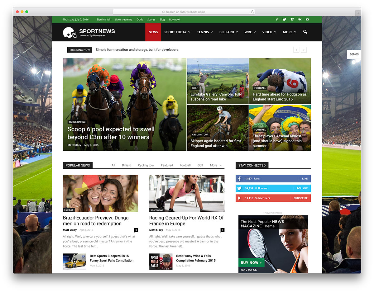 "journal-sports-magazine-website-template ""width ="" 1200 ""height ="" 938 ""data-lazy-srcset ="" https://cdn.colorlib.com/wp/wp-content/uploads/sites/2/newspaper -sports-magazine-website-template.jpg 1200w, https://cdn.colorlib.com/wp/wp-content/uploads/sites/2/newspaper-sports-magazine-website-template-300x235.jpg 300w, https : //cdn.colorlib.com/wp/wp-content/uploads/sites/2/newspaper-sports-magazine-website-template-768x600.jpg 768w, https://cdn.colorlib.com/wp/wp- contenu / uploads / sites / 2 / journal-sports-magazine-website-template-1024x800.jpg 1024w ""data-lazy-tailles ="" (largeur maximale: 1200px) 100vw, 1200px ""data-lazy-src ="" https: //cdn.colorlib.com/wp/wp-content/uploads/sites/2/newspaper-sports-magazine-website-template.jpg?is-pending-load=1 ""srcset ="" data: image / gif; base64 , R0lGODlhAQABAIAAAAAAAAP /// yH5BAEAAAAALAAAAAABAAEAAAIBRAA7 ""/></p> <p><noscript><img class="