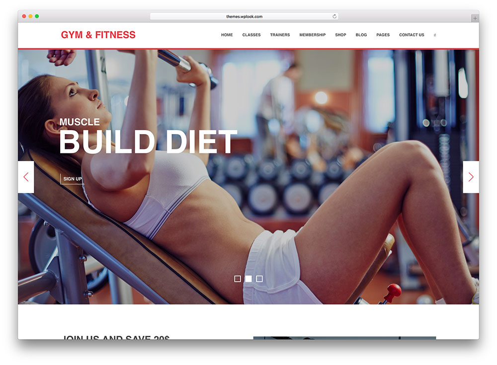gym fitness - yoga wordpress theme