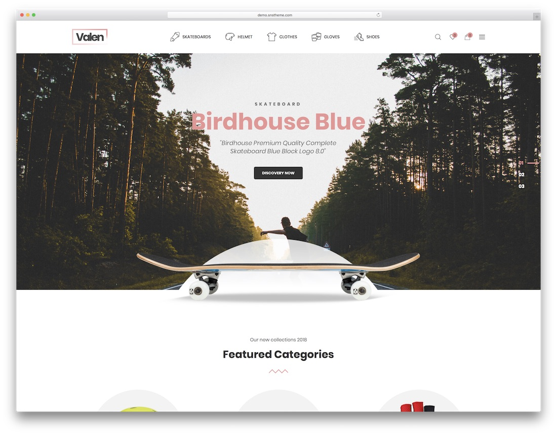 valen wordpress sports theme