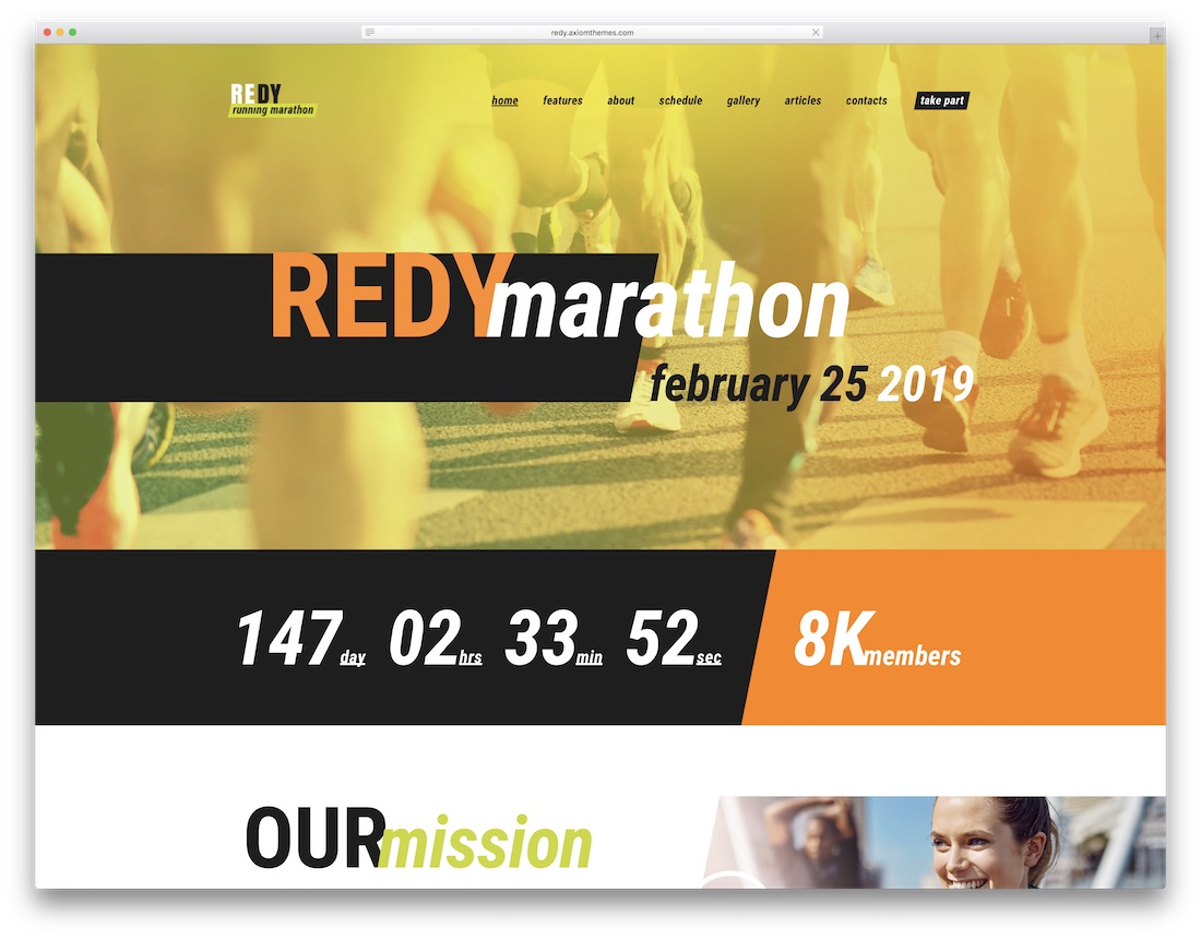 redy wordpress sports theme