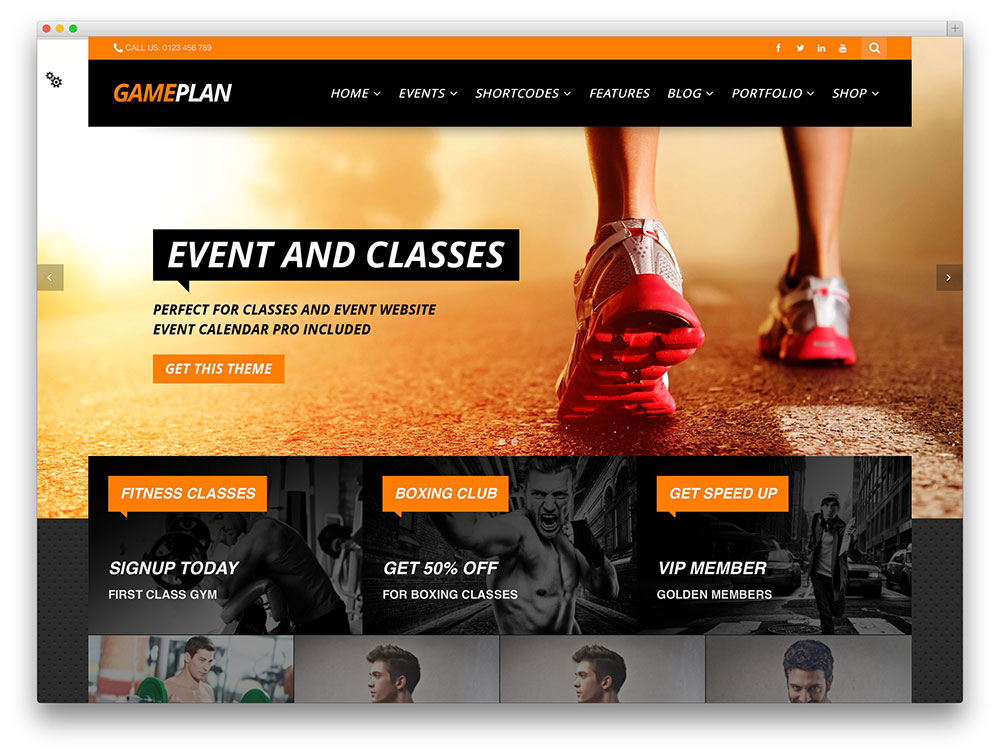 gameplan multipurpose sports theme