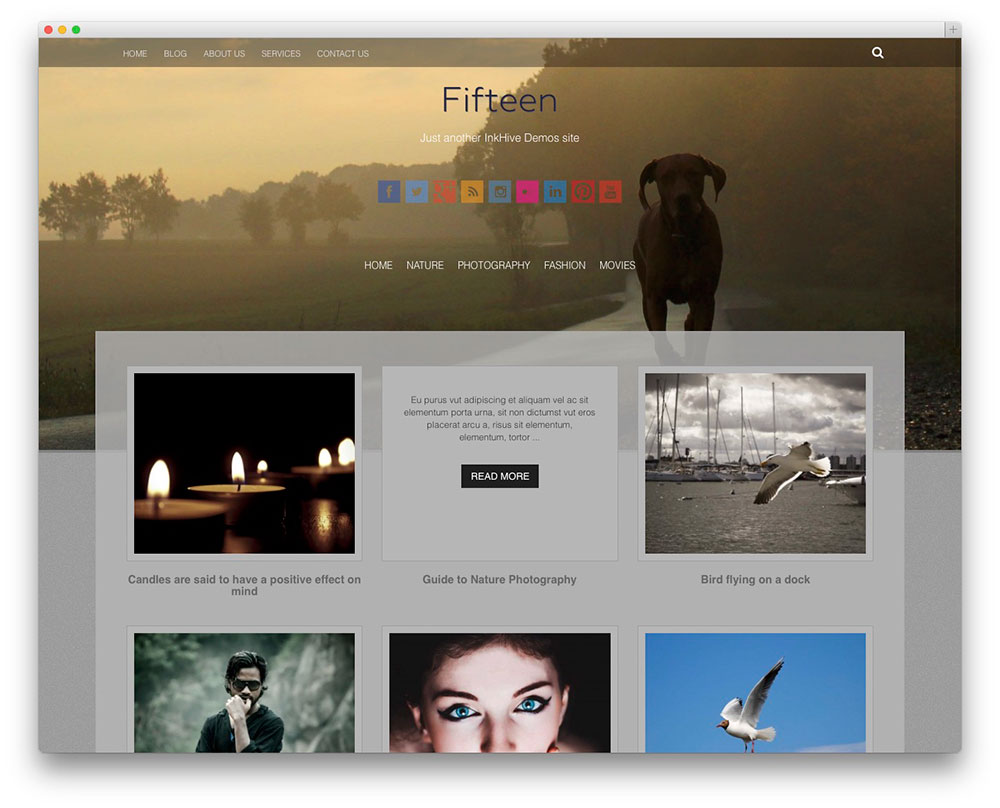 fifteen grid style theme