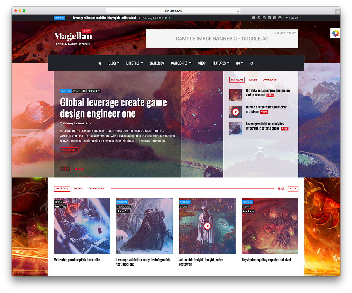 magellan-gaming-magazine-style-theme &quot;width =&quot; 1200 &quot;height =&quot; 1002 &quot;data-lazy-srcset =&quot; https://cdn.colorlib.com/wp/wp-content/uploads/sites/2/magellan -gaming-magazine-style-theme.jpg 1200w, https://cdn.colorlib.com/wp/wp-content/uploads/sites/2/magellan-gaming-magazine-style-style-style-300x251.jpg 300w, https : //cdn.colorlib.com/wp/wp-content/uploads/sites/2/magellan-gaming-magazine-style-theme-768x641.jpg 768w, https://cdn.colorlib.com/wp/wp- contenu / uploads / sites / 2 / magellan-gaming-magazine-style-theme-1024x855.jpg 1024w &quot;data-lazy-tailles =&quot; (largeur maximale: 1200px) 100vw, 1200px &quot;data-lazy-src =&quot; https: //cdn.colorlib.com/wp/wp-content/uploads/sites/2/magellan-gaming-magazine-style-style-theme.jpg?is-pending-load=1 &quot;srcset =&quot; data: image / gif; base64 , R0lGODlhAQABAIAAAAAAAAP /// yH5BAEAAAAALAAAAAABAAEAAAIBRAA7 &quot;/&gt;</p> <p><noscript><img class=