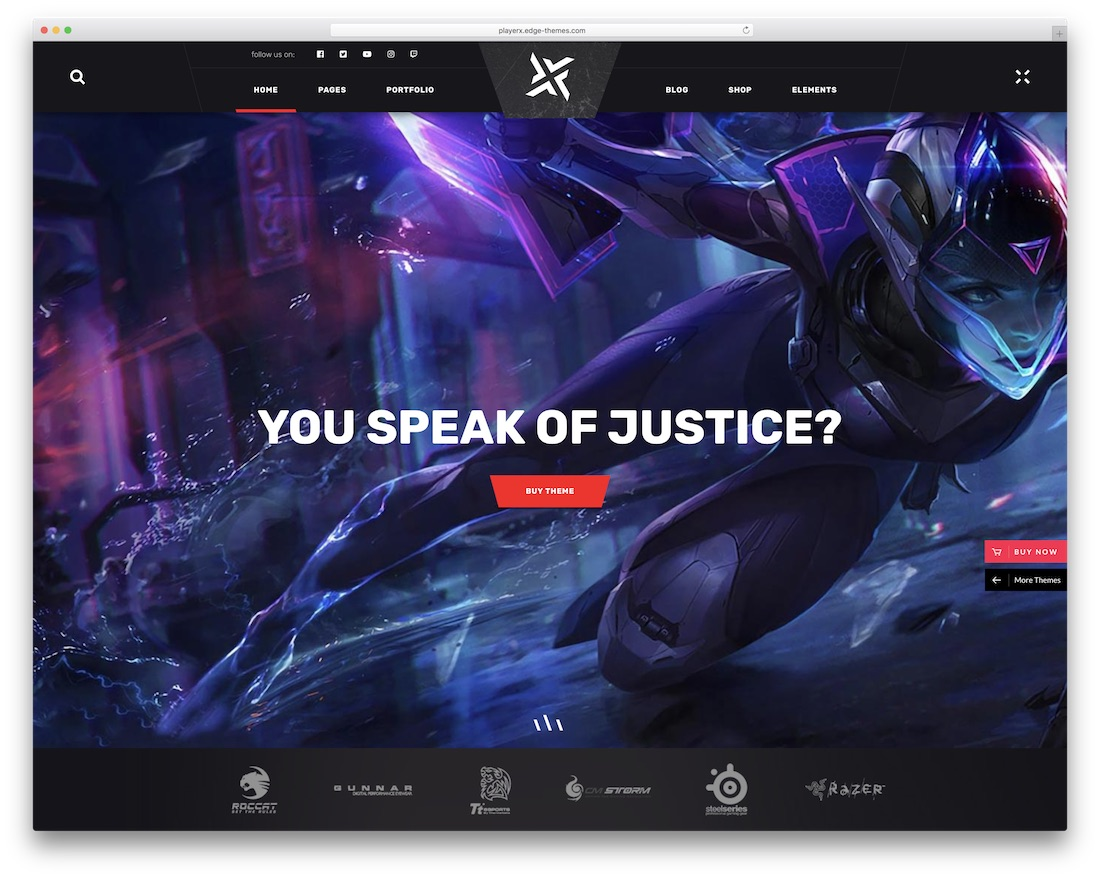 playerx gaming wordpress theme