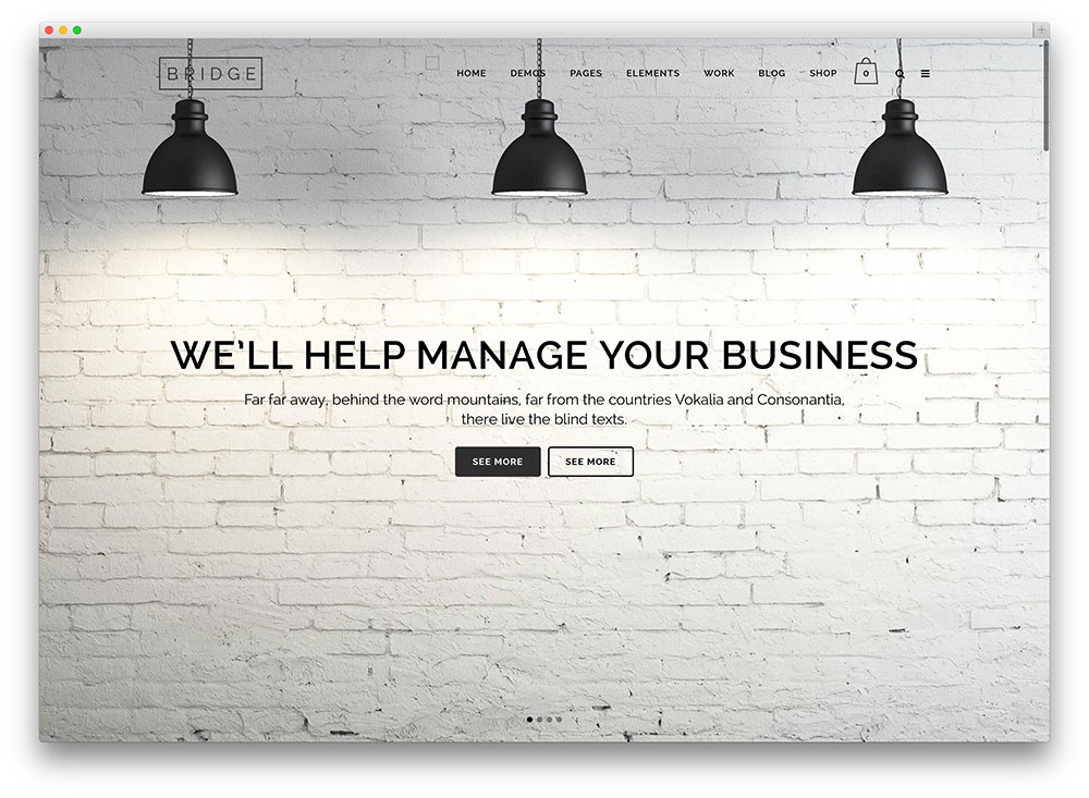 bridge flat corporate theme