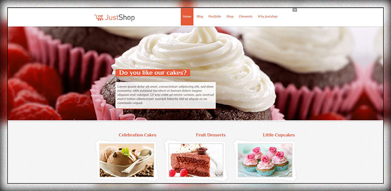 Cake Bakery Thème WordPress - Justshop
