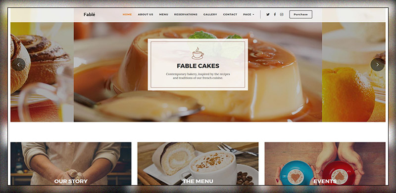 Fable - Restaurant Bakery Cafe Pub Thème WordPress