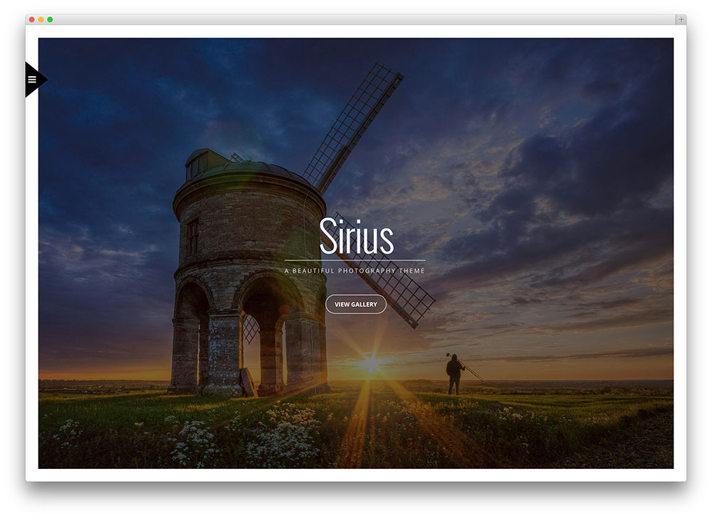 sirius exotic photography theme