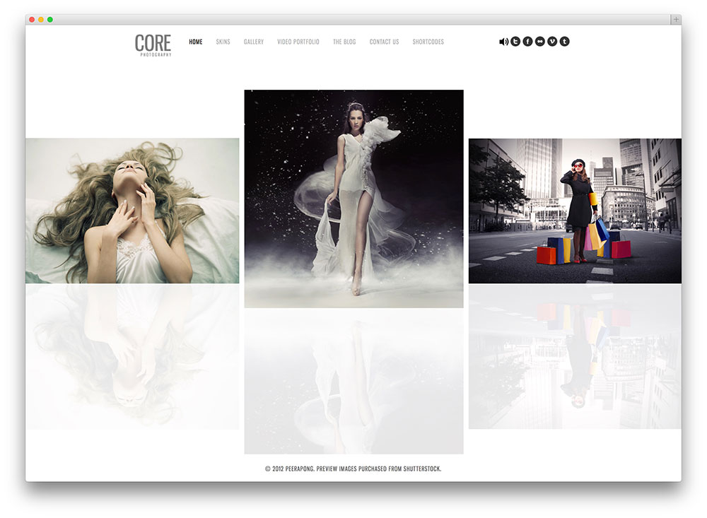 core - bestselling photography theme