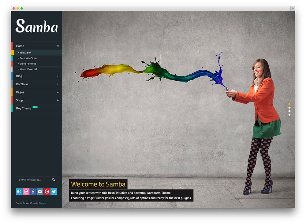 samba colorful image slider