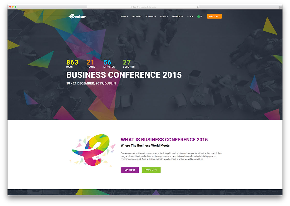 "eventum-bright-conference-wordpress-theme ""width ="" 1200 ""height ="" 851 ""data-lazy-srcset ="" https://cdn.colorlib.com/wp/wp-content/uploads/sites/2/eventum -bright-conference-wordpress-theme.jpg 1200w, https://cdn.colorlib.com/wp/wp-content/uploads/sites/2/eventum-bright-conference-wordpress-theme-300x213.jpg 300w, https : //cdn.colorlib.com/wp/wp-content/uploads/sites/2/eventum-bright-conference-wordpress-theme-768x545.jpg 768w, https://cdn.colorlib.com/wp/wp- content / uploads / sites / 2 / eventum-conference-wordpress-theme-1024x726.jpg 1024w ""data-lazy-tailles ="" (largeur max: 1200px) 100vw, 1200px ""data-lazy-src ="" https: //cdn.colorlib.com/wp/wp-content/uploads/sites/2/eventum-bright-conference-wordpress-theme.jpg?is-pending-load=1 ""srcset ="" data: image / gif; base64 , R0lGODlhAQABAIAAAAAAAAP /// yH5BAEAAAAALAAAAAABAAEAAAIBRAA7 ""/></p> <p><noscript><img class="