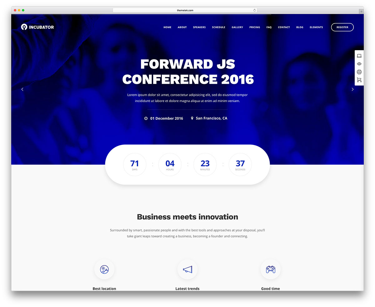 """incubateur-comference-wordpress-template """"width ="""" 1200 """"height ="""" 983 """"data-lazy-srcset ="""" https://cdn.colorlib.com/wp/wp-content/uploads/sites/2/incubator-comference -wordpress-template.jpg 1200w, https://cdn.colorlib.com/wp/wp-content/uploads/sites/2/incubator-comference-wordpress-template-300x246.jpg 300w, https: //cdn.colorlib .com / wp / wp-content / uploads / sites / 2 / incubateur-comference-wordpress-template-768x629.jpg 768w, https://cdn.colorlib.com/wp/wp-content/uploads/sites/2/ incubateur-comference-wordpress-template-1024x839.jpg 1024w """"données-lazy-tailles ="""" (largeur maximale: 1200px) 100vw, 1200px """"données-lazy-src ="""" https://cdn.colorlib.com/wp/ wp-content / uploads / sites / 2 / incubateur-comference-wordpress-template.jpg? est en-attente-chargement = 1 """"srcset ="""" données: image / gif; base64, R0lGODlhAQABAAAAAAAAAP /// yH5BAEAAAAAAAAAAAAAAAAAAAAAP7/></p> <p><noscript><img class="""